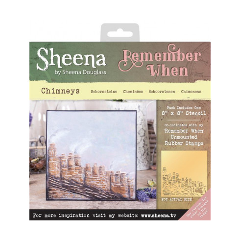 Sheena Remember When Stencil - Chimneys