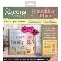 Sheena Remember When Stencil - Nostalgic Words