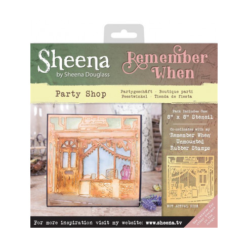 Sheena Remember When Stencil - Party Shop