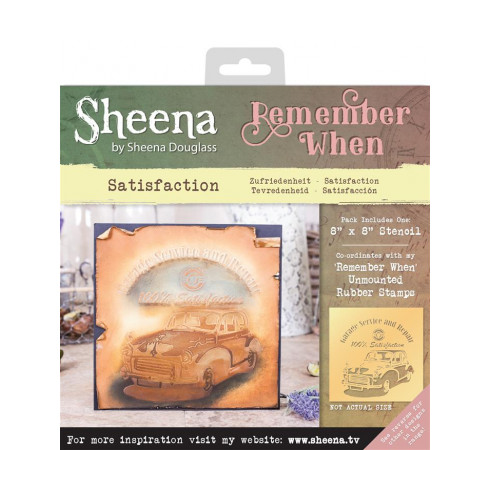 Sheena Remember When Stencil - Satisfaction