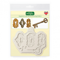 Katy Sue Designs Silicone Mould - Locks and Key
