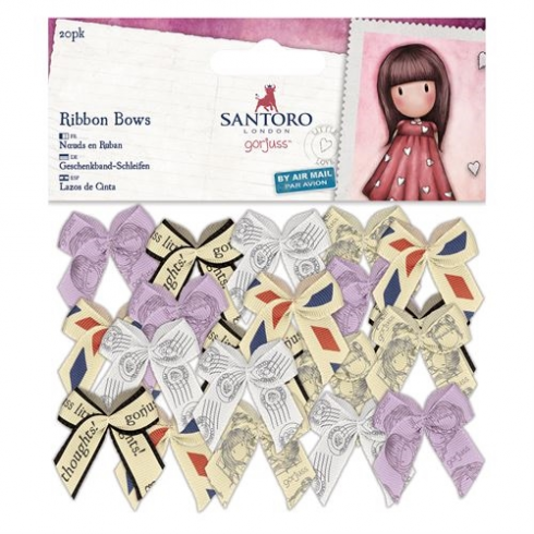 Docrafts Small Ribbon Bows (20pk) - Santoro