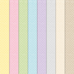 Craft Creations Small White Dots On Pastel Background