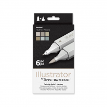 Spectrum Noir Illustrator 6pk - Neutral