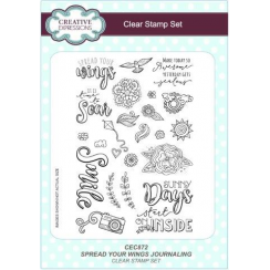 Creative Expressions Spread Your Wings Journaling A5 Clear Stamp Set
