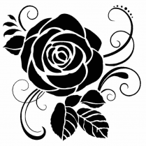 Stamperia Thick Stencil Rose