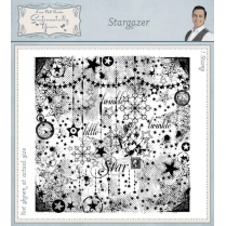 Phill Martin Stargazer Pre Cut Rubber Stamp