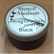 Imagination Crafts Stencil Medium - Black