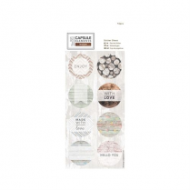Papermania Sticker Sheet (16pcs) - Elements Wood