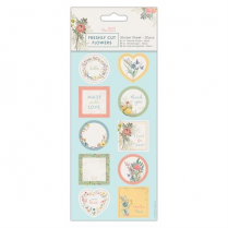 Docrafts Sticker Sheet (20pcs) - Freshly Cut Flowers