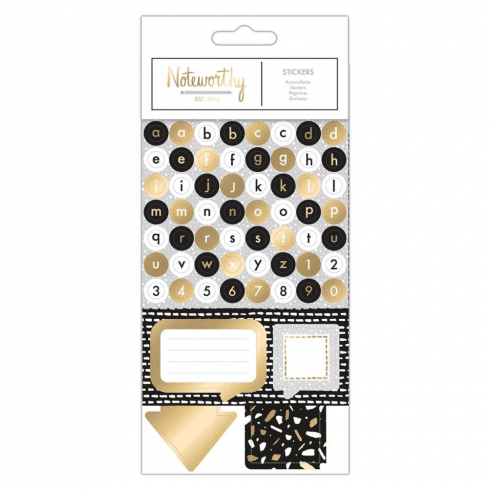 Docrafts STICKERS - METALLIC MONO
