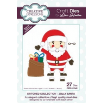 Creative Expressions Stitched Collection - Jolly Santa