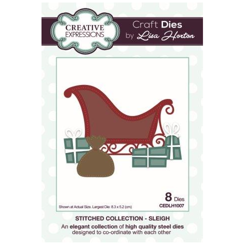 Creative Expressions Stitched Collection Sleigh