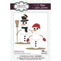 Creative Expressions Stitched Collection Snowman