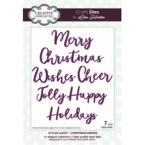 Creative Expressions Stylish Script Collection Christmas Wishes