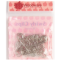Woodware SWIRLY CLIPS - SILVER (25)
