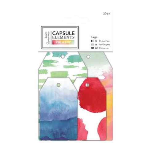 Docrafts Tags (20pk) - Capsule Collection - Elements Pigment