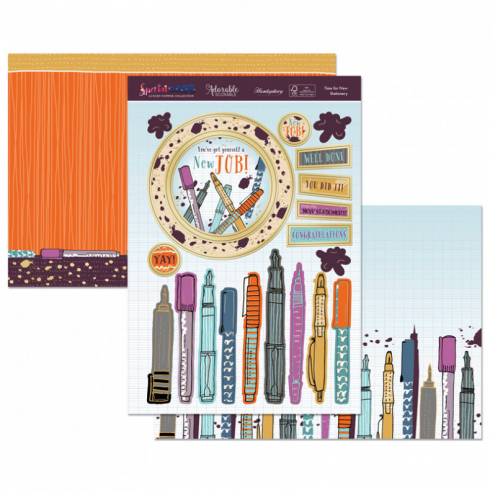 Hunkydory Time For New Stationery Topper Set