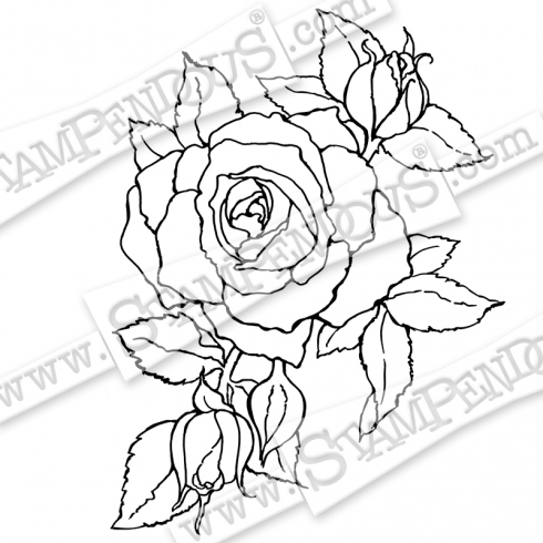 Stampendous Timeless Rose - Cling Rubber Stamp