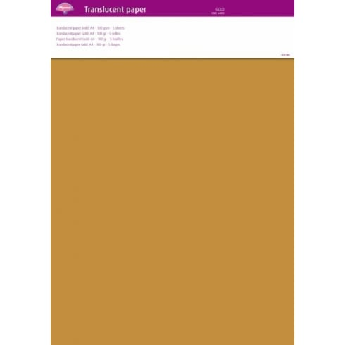 Pergamano Translucent Paper A4 - 100 gsm - 5 sheets - Gold