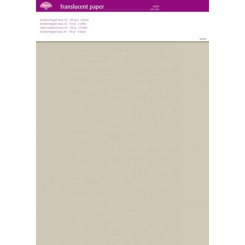 Pergamano Translucent Paper A4 - 150 gsm - 5 sheets - Ivory
