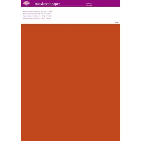 Pergamano Translucent Paper A4 - 150 gsm - 5 sheets - Orange