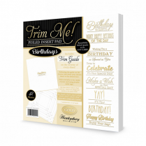 Hunkydory Trim Me! Foiled Insert Pad - Birthdays Gold