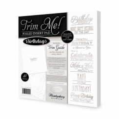 Hunkydory Trim Me! Foiled Insert Pad - Birthdays Silver