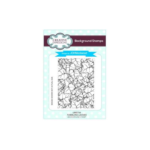 Creative Expressions Tumbling Leaves A6 Background Stamp