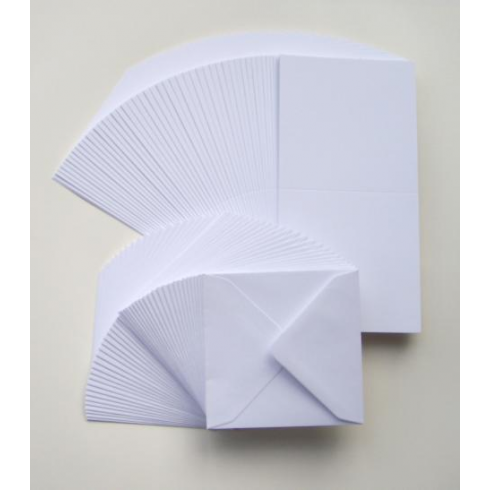 Craft UK UK Cards & Envelopes 6x6 White