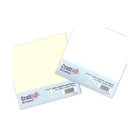UK Envelopes Ivory 7x7