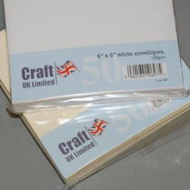 Craft UK UK Envelopes White 6x6