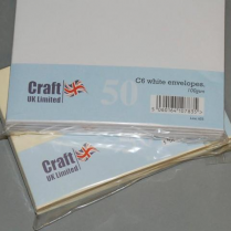 Craft UK UK Envelopes White C6