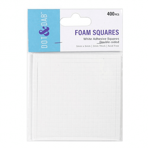Dot & Dab White Foam Squares x 400 (3mm)