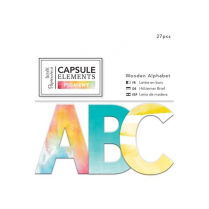 Docrafts Wooden Alphabet (27pcs) - Capsule Collection - Elements Pigment
