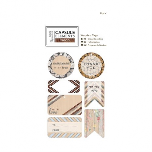Papermania Wooden Tags - Elements Wood