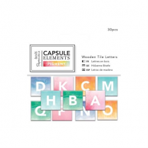 Docrafts Wooden Tile Letters (30pcs) - Capsule Collection - Elements Pigment
