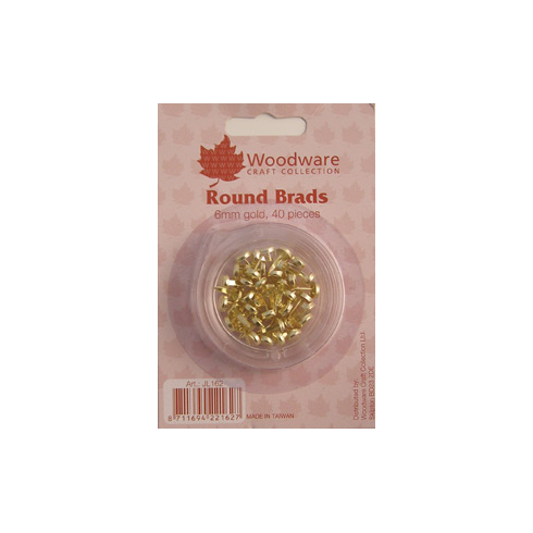 Woodware 6mm Brads - Gold