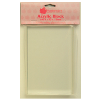 WOODWARE » ACRYLIC BLOCK - LARGE