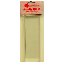 WOODWARE » ACRYLIC BLOCK - LONG