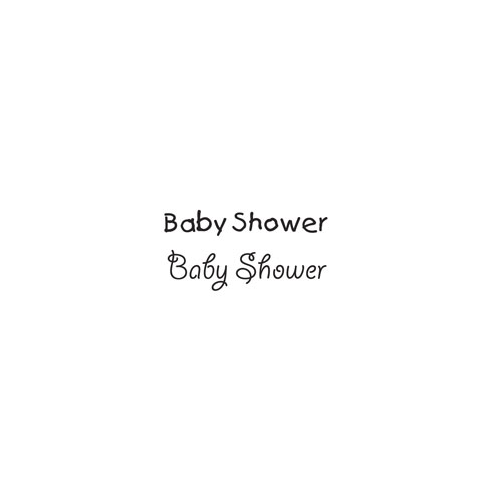 Woodware » BABY SHOWER - JUST WORDS CLEAR MAGIC TIDDLERS