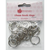 Woodware Book Rings - 3/4 inch (Pack of 24) Silver
