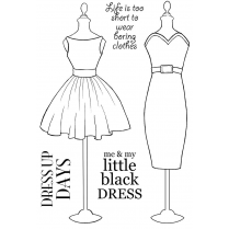 Woodware Clear Singles Acrylic Stamp - Little Black Dress