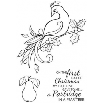 Woodware Clear Singles - Christmas Partridge
