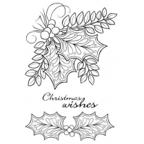 Woodware Clear Singles - Doodle Holly