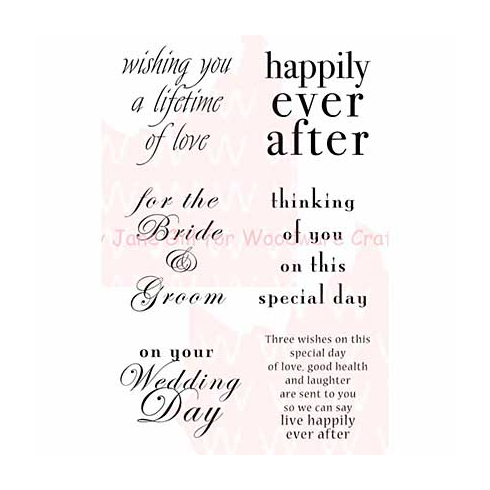 Woodware Clear Stamps 3.5x5.5 Sheet - Wedding Words [JGS393]