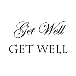 WOODWARE » GET WELL - CLEAR MAGIC JUST WORDS TIDDLER