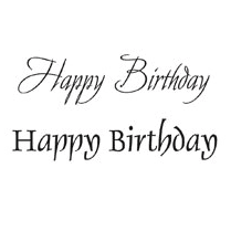 Woodware Just Words - Happy Birthday JWS003