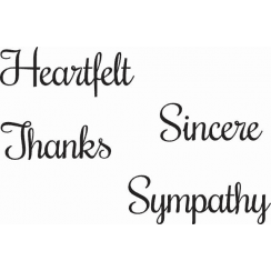 Woodware Just Words - Heartfelt Sincere Thanks Sympathy