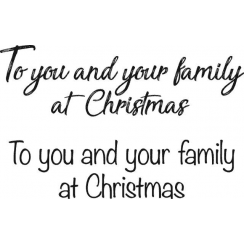 Woodware Just Words - To you and your family at Christmas